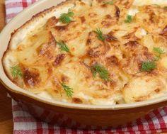 Patatas gratinadas con bachamel...