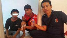 Polsek Kawasan Pelabuhan Samarinda Amankan Pria yang Menyalagunakan Narkoba Jenis Sabu