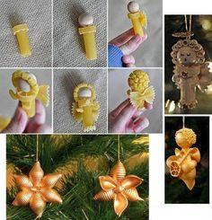 Dopo aver visto come creare alberi di natale con la pasta vediamo come fare altre decorazioni con la pasta, come angioletti e stelle di nat...