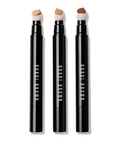 "Click to dispense a drop of liquid concealer to the sponge tip. Dab onto the problem area, then blend—no messy fingers here. ""It dried to a powdery finish that blurred my lines and pores,"" said a tester. In nine shades."