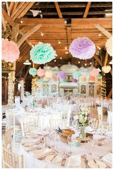 29 Creative Colorful Wedding Decorations Blush pink is still among the most beloved wedding colours. The flowers can be swapped to coordinate with the subject of your wedding. Couples Shower Invitations, Tea Party Invitations, Bride Shower, Tea Party Bridal Shower, Preston Court, Wedding Pom Poms, Pastel Colors, Pastel Palette, Colours