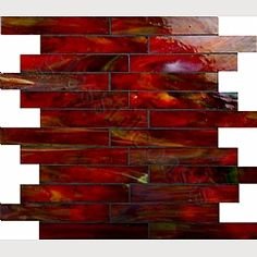 Third Option Bonfire 1 X 6 Red Brick Victorian Glass Tile