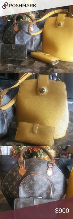 Lv bags and wallets Yeow set abd lv mono gramed set Louis Vuitton Bags Wallets