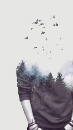 best for wallpaper Double Exposure Photography, Dark Photography, Creative Photography, Cute Wallpapers, Wallpaper Backgrounds, Iphone Wallpaper, Theme Tattoo, Images Gif, Sad Art