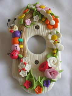 Lamasa is a Spanish kitchen craft. Lamasa can be used to make name plates, photo frames, etc. Polymer Clay Canes, Fimo Clay, Polymer Clay Projects, Polymer Clay Creations, Clay Wall Art, Play Clay, Cute Clay, Paperclay, Clay Flowers