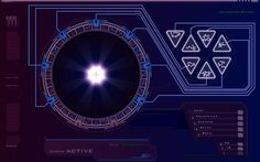 Outgoing Gate screen from The Stargate Atlantis Computer Simulator…