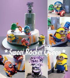 Superheroes Minions Cake