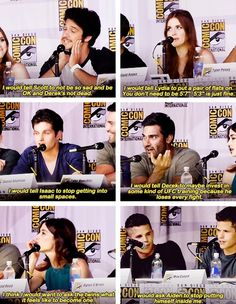 Tyler Posey, Holland Roden, Daniel Sharmen, Tyler Hoechlin, Crystal Reed, Max Carver, Charlie Carver and Dylan O'Brien