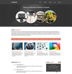 this simple psd website templates free download for any user and