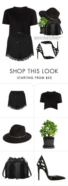 """- Black Street avenue -"" by lolgenie ❤ liked on Polyvore featuring Topshop, Être Cécile, Sole Society, Alejandro Ingelmo, women's clothing, women, female, woman, misses and juniors"