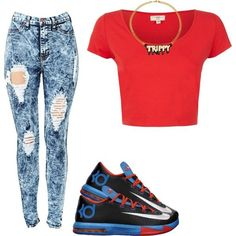 """""""Today !"""" by ashl3y-cripp3n on Polyvore cheap KD 6 only $55, save up to 64.5% off for all #Nikes #Shoes"""