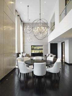 double height dining room lighting - Google Search
