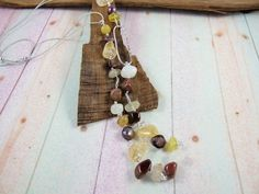 Long Sterling Silver and Gemstone Necklace, Topaz, Citrine, Opal and Japser Skull Scarf, Red Jasper, Organza Gift Bags, Cross Stitch Kits, Beautiful Gifts, White Topaz, Gemstone Necklace, Printing On Fabric, Opal