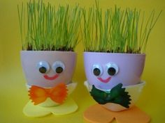 This would be cute to do with the kids, instead of grass, maybe a useful herb?