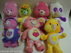 7 Care Bears Plush Toy Animals Panda Secret Polite Bear Funshine Vintage Hopeful #carebear #carebears