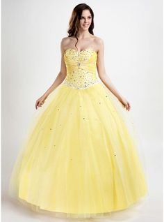 Ball-Gown Sweetheart Floor-Length Tulle Quinceanera Dress With Ruffle Beading Appliques Lace - MADE TO ORDER