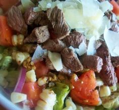 """Balsamic Steak & Romano Salad: """"Yum! The Romano cheese is a terrific finishing touch on this colorful salad."""" —*Parsley"""