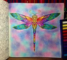 Johanna Basford - Enchanted Forest - dragonfly