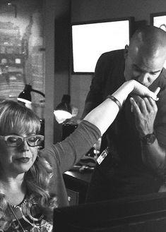 "✯SHEMAR MOORE with his ""Baby Girl"" Penelope Garcia, aka Kirsten Vangsness✯ Criminal Minds"