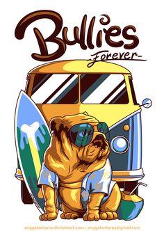 Bullies Forever by anggatantama on DeviantArt Graffiti, Car Drawings, Surf Art, Dog Art, Graphic, Diy Painting, Street Art, Illustration Art, Sketches
