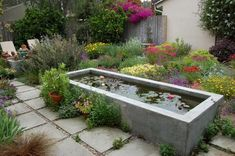 Unusual Fish Pond Design To Beautify Your Home Patio Pond, Diy Pond, Pond Landscaping, Ponds Backyard, Koi Ponds, Backyard Ideas, Concrete Fountains, Pond Fountains, Concrete Garden