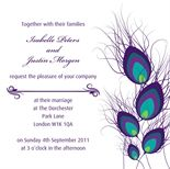 Peacock Panache wedding invitation by Ananyacards.com - such an elegant colour combination #weddinginvitation #peacock