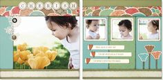 art close, scrapbook layouts, heart layout, design, stella paper, spring layout