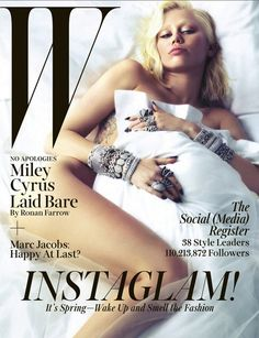 #MileyCyrus graces the cover of #W Magazine March 2014: Miley Cyrus Laid Bare...