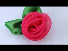 DIY Fabric Flower Vintage Rose, Chiffon flower Tutorial, Variant #3 - YouTube