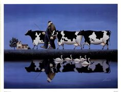 Delta Cows by Lowell Herrero