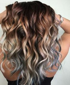 hair color balayage trends 3 Best Mixture of Balayage Caramel & Silver 2018 Buyin Pretty Hairstyles, Easy Hairstyles, Korean Hairstyles, Trending Hairstyles, Straight Hairstyles, Hair Color Balayage, Haircolor, Purple Hair Highlights, Ombre Hair