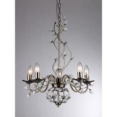 Warehouse of Tiffany Charlotte 5-light Bronze 20-inch Crystal Branches Chandelier - 6702-5
