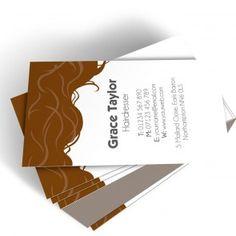 Cartes De Visite Dessin Cheveux Coiffeur Salon Coiffure Carte