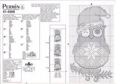 Cross Stitch Owl, Cross Stitch Needles, Cross Stitch Cards, Cross Stitch Animals, Cross Stitch Kits, Cross Stitching, Cross Stitch Embroidery, Cross Stitch Patterns, Cross Stitch Christmas Cards