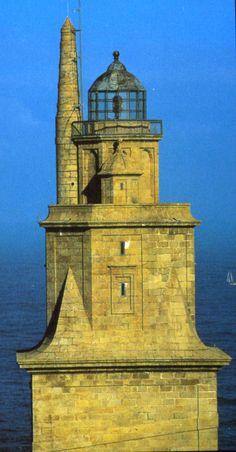La Torre de Hércules //// THE LIGHTHOUSE OF LA CORUÑA (Spain) ~~ For more:  - ✯ http://www.pinterest.com/PinFantasy/arq-~-faros-lighthouses/