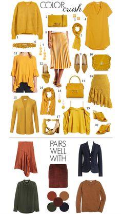 Trendy How To Wear Yellow Capsule Wardrobe Ideas - donnamorton. - - Trendy How To Wear Yellow Capsule Wardrobe Ideas – donnamorton. Yellow Shoes Outfit, Yellow Skirt Outfits, Mustard Yellow Outfit, Mustard Yellow Skirts, Mustard Skirt, Yellow Clothes, Yellow Blouse, Yellow Dress Casual, Dress Outfits