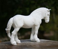 Ardennes stallion UNPAINTED Resin Model Horse by DeborahMcDermott