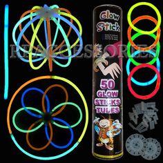 "Buy 3 Get 1 Free 50 Lot 8"" inch Glow Sticks Necklace Light Bracelets Glowsticks | eBay"