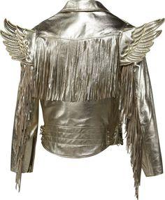 Amazon.com: Adidas Men's Jeremy Scott JS Gold Wings Leather Jacket: Clothing