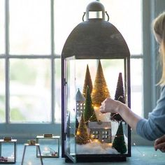 Simply Inspired Holidays: Zinc Winter Village - christmas house, neutral, modern