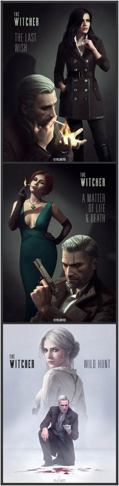 The Witcher reimagined as film noir. - 9GAG