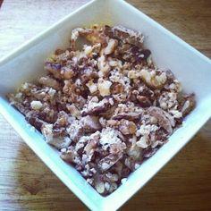 Desayuno !!! Claras de huevo, pollo y nueces  !!! #SisePuede ...