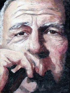 Difficult Subject Encaustic Portrait by Kara Brook
