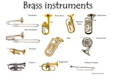 Learn English Vocabulary through Pictures: Musical Instruments - ESLBuzz Learning English Learn English Vocabulary through Pictures: Musical Instruments – ESL Buzz<br> Musical instruments are instruments created or adapted to make musical sounds . Piano Lessons, Music Lessons, Blue Nile, Brass Instrument, Brass Band Instruments, Tv Movie, Homemade Instruments, Gernal Knowledge, Music Station