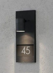 MODENA Illuminated House Number Wall Light (referência para qualquer projecto)