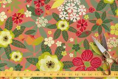 Tropical Bloom Self-Launch Fabric
