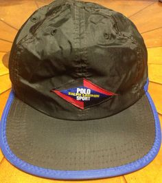 5bf411c120b This item is a Super Rare Vintage Polo Sport Ralph Lauren Nylon cap One Size  with Velcro Back Made in the USA This Item Is In Excellent