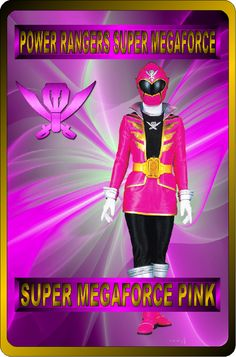 Super Megaforce Pink by rangeranime on Power Rangers Fan Art, Power Rangers Ninja Storm, Power Rangers In Space, Pink Power Rangers, Mighty Morphin Power Rangers, Superhero Texts, Naruto Sage, Power Rangers Megaforce, Power Rengers