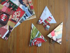 Christmas tree origami from catalog pages