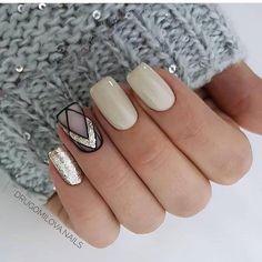 New stylish nail art ideas every day Gelish Nails, Shellac, Finger, Cute Acrylic Nails, Cool Nail Designs, Short Nails, Nail Tips, Make Up, Nail Art